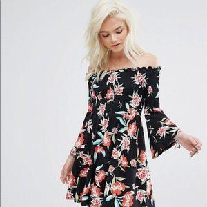 ASOS Petite mini dress in floral print